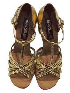 S23G - Ladies High Performance Latin Dance Sandal in Gold