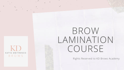 Brow Lamination Online Course - Kit Included