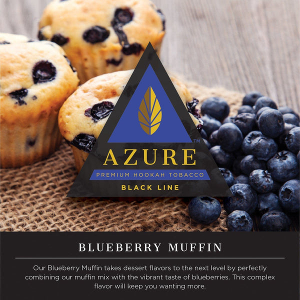 Azure Black Line Blueberry Muffin Hookah Tobacco 100g