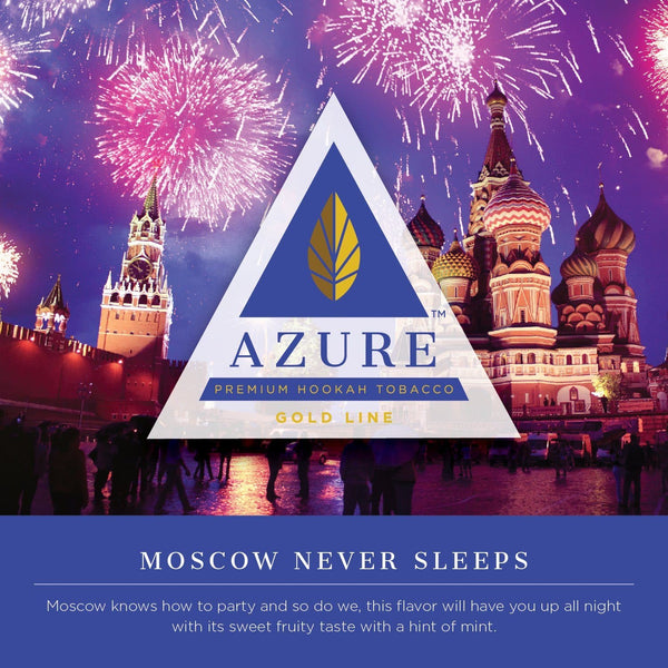 Azure Moscow Never Sleeps Hookah Tobacco 100g