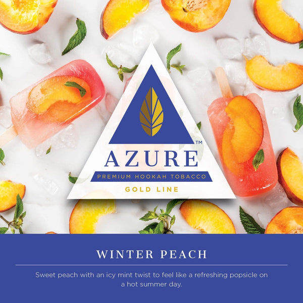 Azure Gold Line Winter Peach Hookah Tobacco 100g