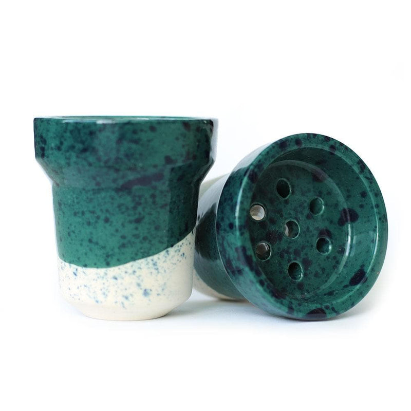 Fox Barrel Hookah Bowl Green