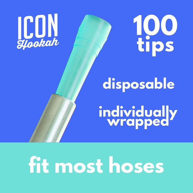 Disposable Plastic Hookah Mouth Tips 100 Pieces
