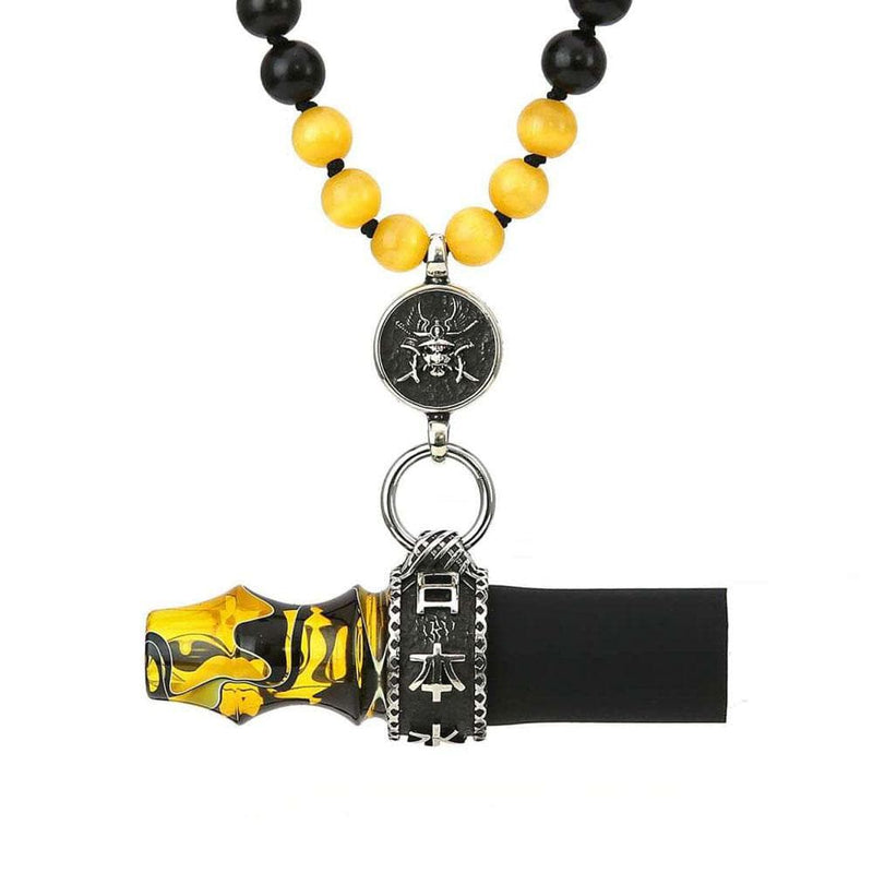 Japona Hookah Samurai Personal Mouth Tip Beads Yellow