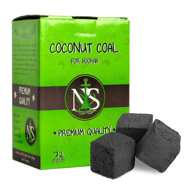 N&S Coconut hookah coals cubes 72 pieces