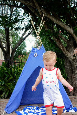toddler blue teepee tent from LoveMeSparkle