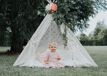 Load image into Gallery viewer, lace boho teepee photo prop by LoveMeSparkle