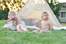 Load image into Gallery viewer, cute baby photo shoot with lace teepee by lovemesparkle