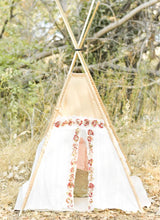 Load image into Gallery viewer, Bella lace with flower accent tipi by LoveMeSparkle