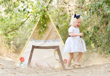 Load image into Gallery viewer, fairy tale cottage playhouse teepee tent for little girls by LoveMeSparkle