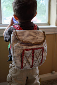 toddler boy with barn backpack by LoveMeSparkle