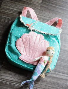 handmade mermaid toy bag for girls