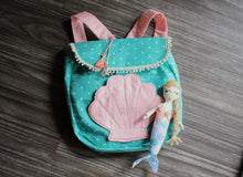 Load image into Gallery viewer, teal and pink backpack for kids