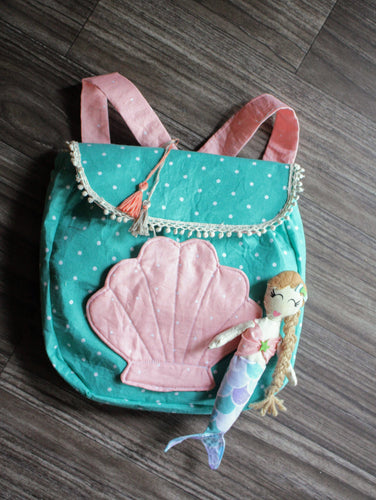 Toddler girl's backpack with mermaid doll by LoveMeSparkle