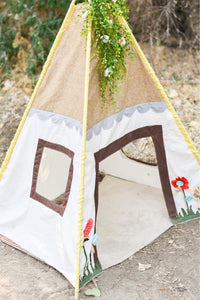 kid's play tent with door and windows by LoveMeSparkle