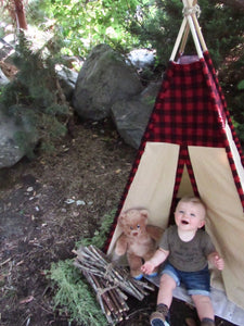 Boy's toddler teepee for hunting lovers by LoveMeSparkle