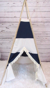 rugby stripes teepee play tent by LoveMeSparkle