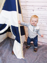 Load image into Gallery viewer, Nautical nursery teepee tent by LoveMeSparkle