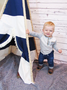 Nautical nursery teepee tent by LoveMeSparkle