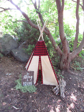 Load image into Gallery viewer, Camping theme nursery or bedroom teepee tent by lovemesparkle