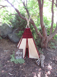 Camping theme nursery or bedroom teepee tent by lovemesparkle