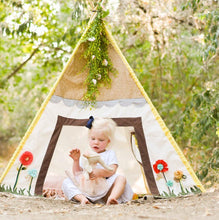 Load image into Gallery viewer, Play house tent with flowers by LoveMeSparkle