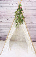 Load image into Gallery viewer, Daphne bohemian lace teepee with greenery accessory from LoveMeSparkle