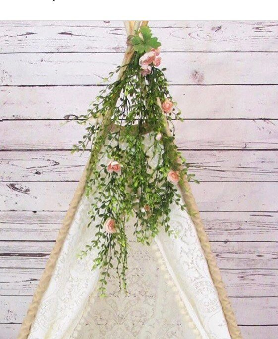 Teepee tent photo shoot flower greenery by LoveMeSparkle