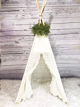 Load image into Gallery viewer, Green leaf vine teepee tent topper by LoveMeSparkle