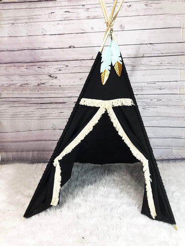 Black tribal teepee tent for nursery or playroom by LoveMeSparkle