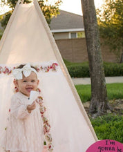 Load image into Gallery viewer, girl's nursery decor floral teepee