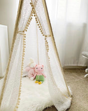 Load image into Gallery viewer, girl's nursery bedroom decoration teepee tent by LoveMeSparkle