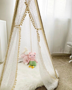 girl's nursery bedroom decoration teepee tent by LoveMeSparkle