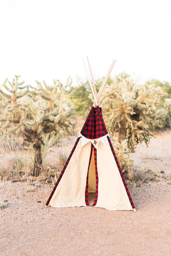Buffalo check/plaid boy's teepee tent by LoveMeSparkle