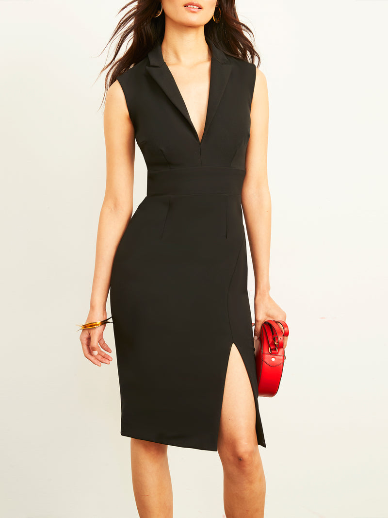 Ellinor Collared Dress with Slit