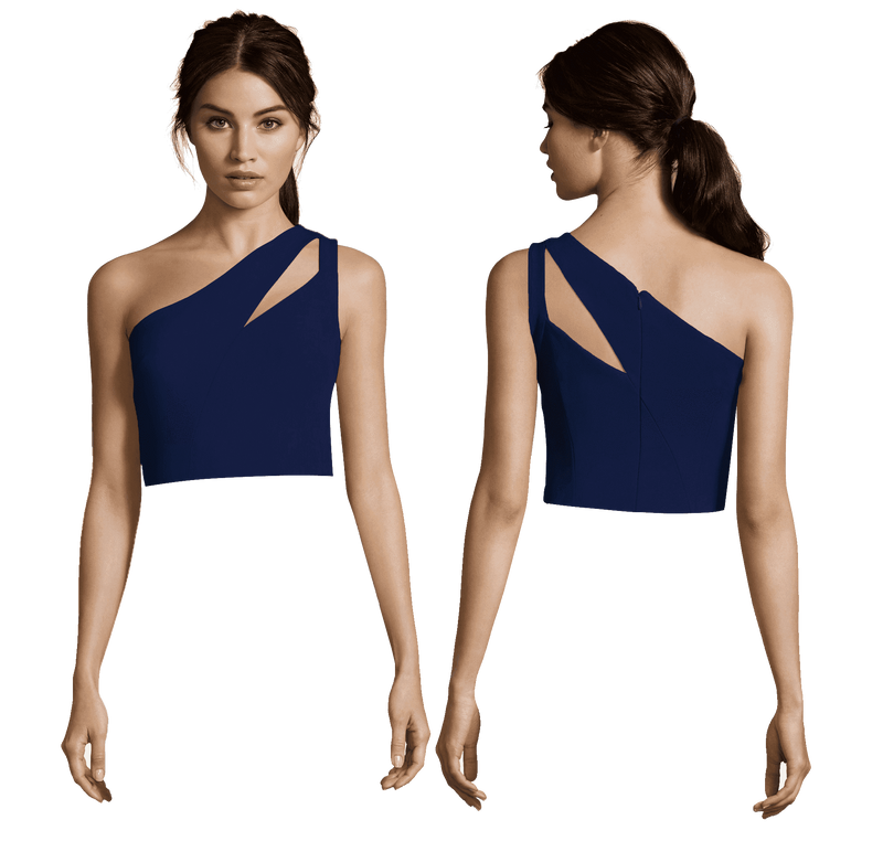 Christine One Shoulder with Key Hole