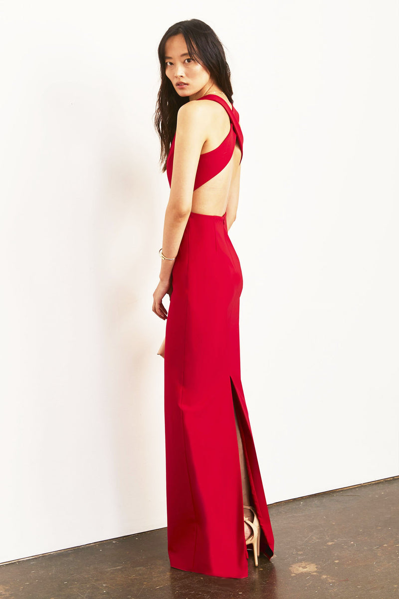 Julia Gown with Plunge Neck..
