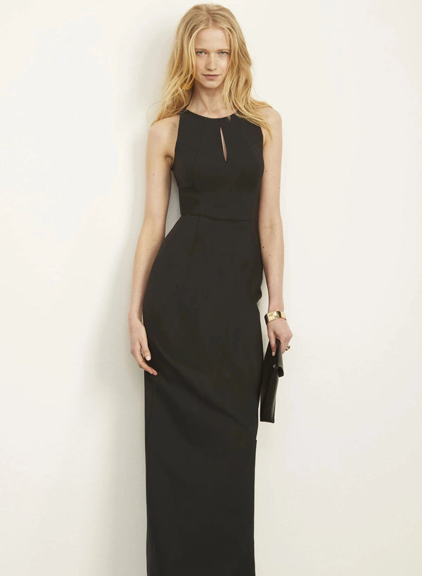 Jenny High Neck Halter Column Gown