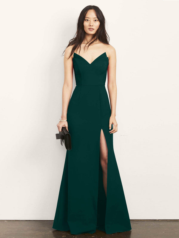 Jessica Strapless Gown with Slit-Altress