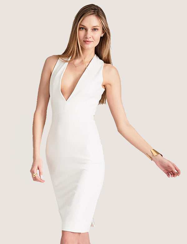 Julia X Back Dress with Plunge Neck-Dress-Altress