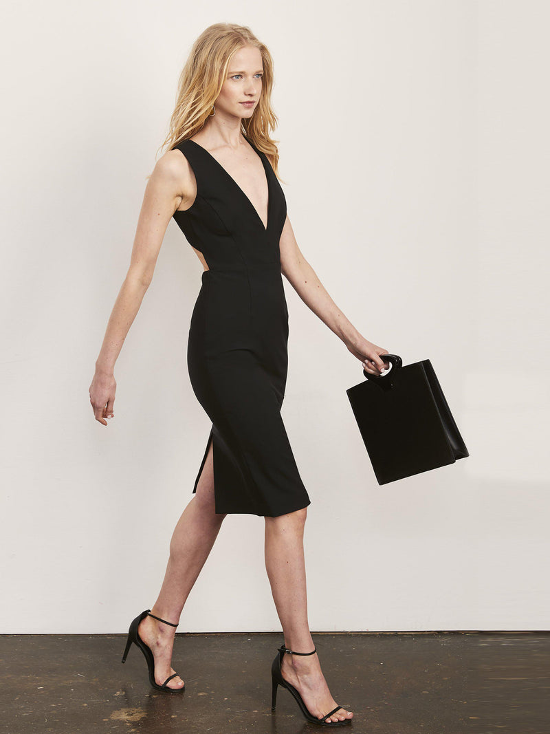 Julia X Back Dress with Plunge Neck-Altress