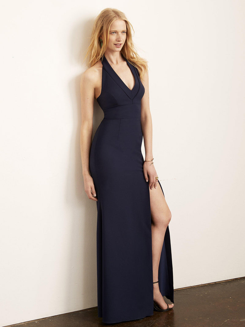 Kate Halter Gown with Slit-Altress