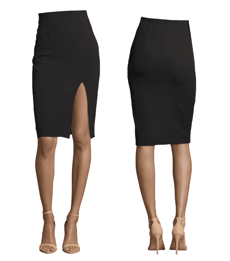 Pencil Length Skirt with Slit
