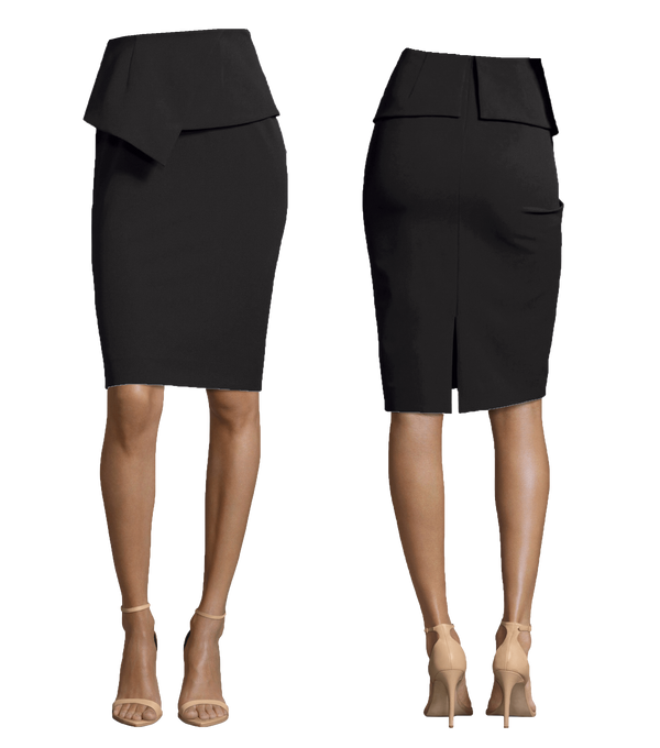Pencil Length Skirt with Peplum