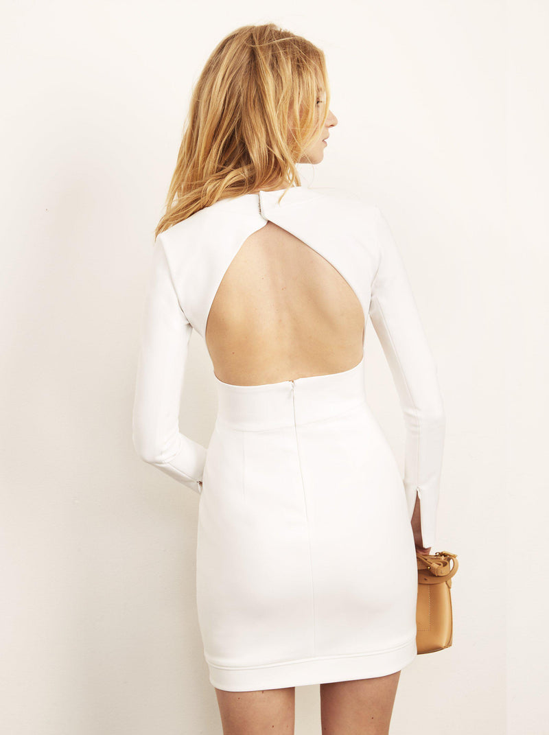 Brittany Open Back Dress with Asymmetrical Hem