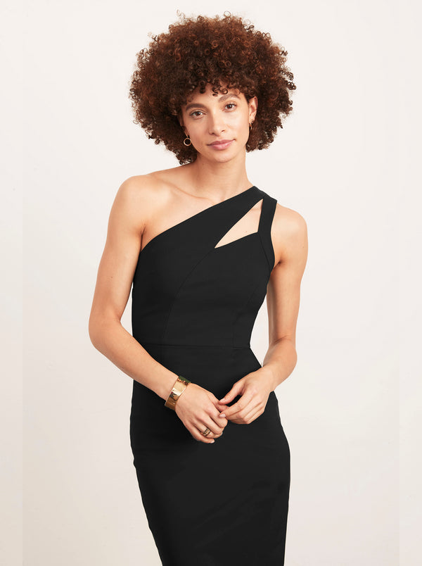 Christine One Shoulder Dress LBD