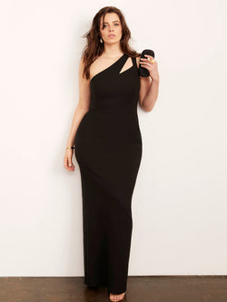 Christine One Shoulder Gown-Dress-Altress