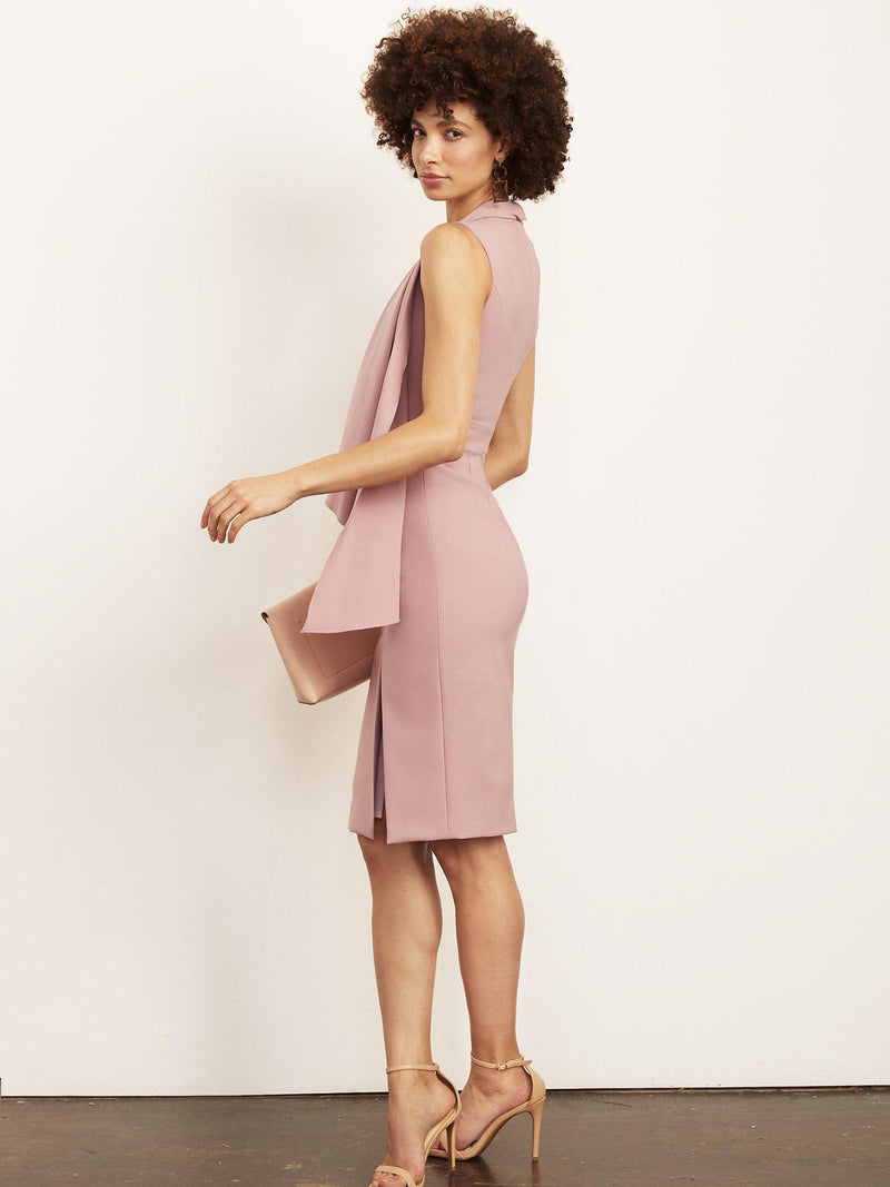 Ashley Cascade Dress with Slit