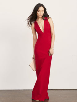 Julia X Back Gown with Plunge Neck-Altress