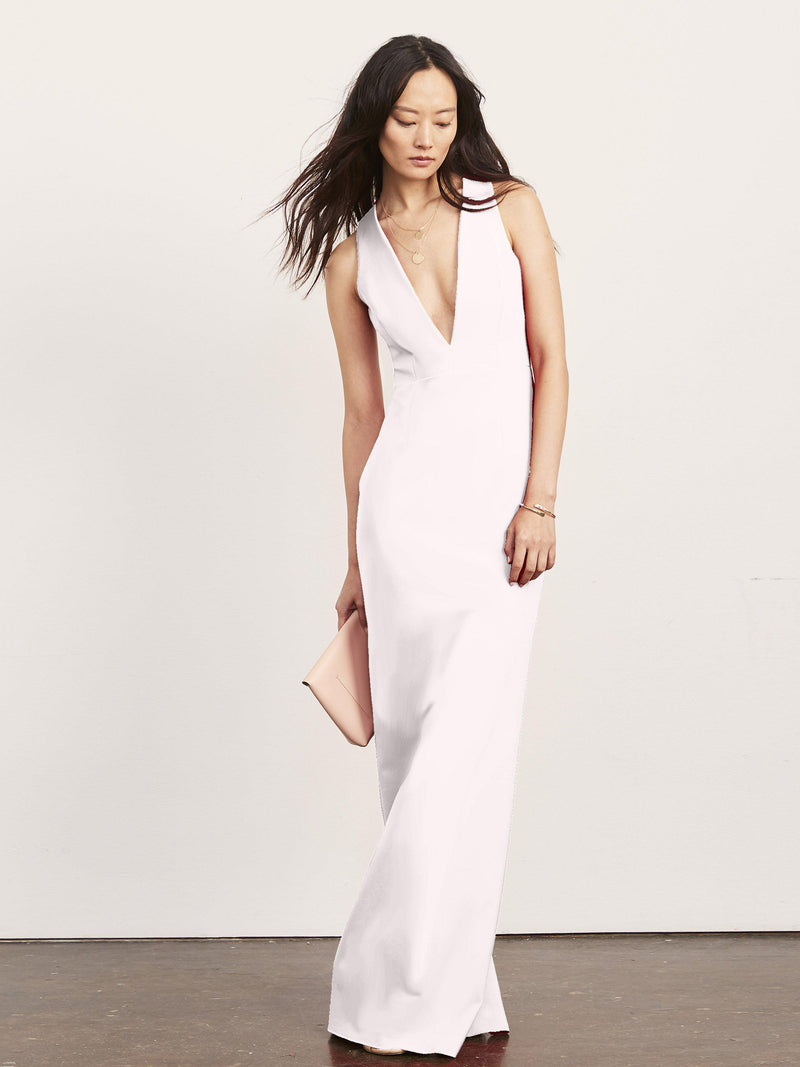 Julia X Back Gown with Plunge Neck-Dress-Altress